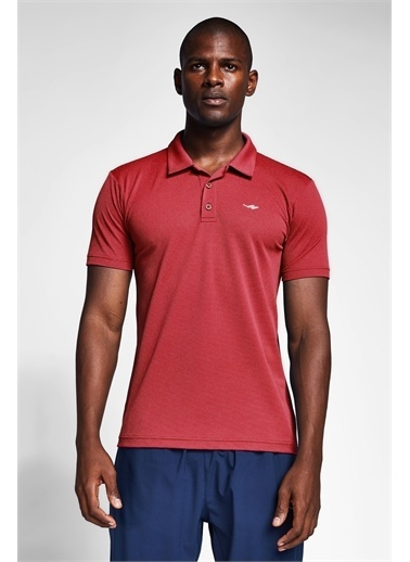 Lescon Bordo Erkek Polo Yaka T-Shirt 21S-1297-21N Kırmızı